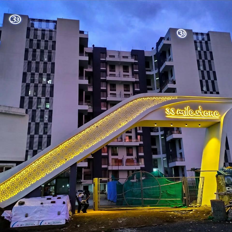 2 BHK + Pooja Room  Apartment For Sale in 33 Milestone