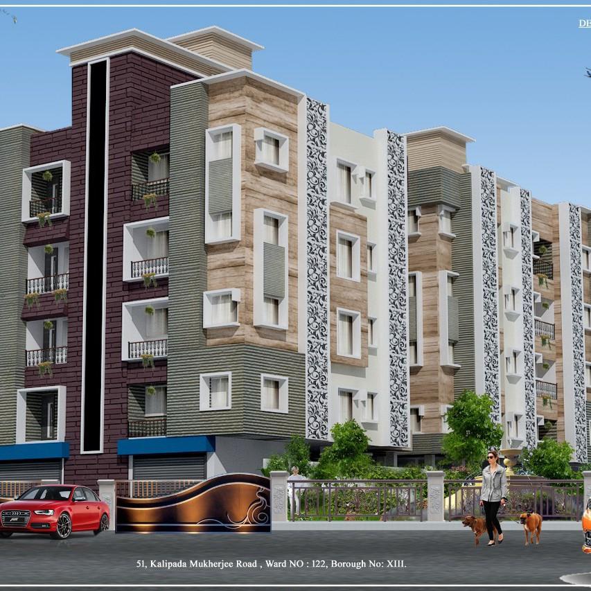 2 BHK 790 Sq.Ft. Apartment in Behala